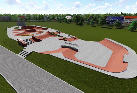 Konkreter Skatepark Wejherowo - Polen