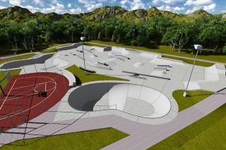 Konzeption des Skateparks (Brumunddal)