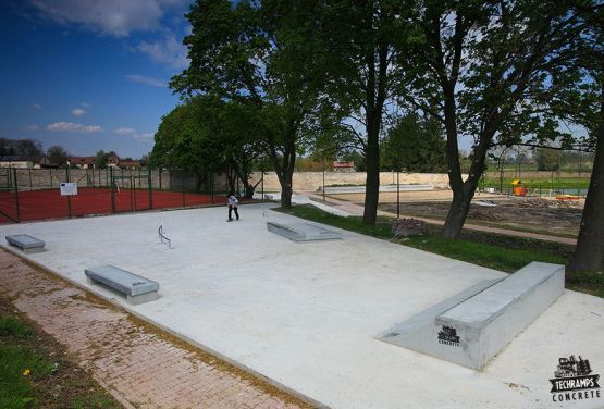 Stopnica skatepark de hormigón