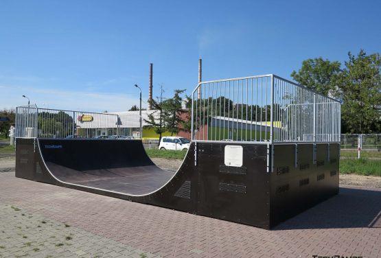 Rampa w skateparku w Rybniku