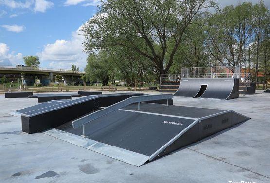 Modualr skatepark from Techramps in Pisz in Poland