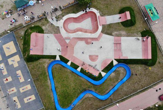 Obiekty sportowe XXI wieku - skatepark i pumptrack w Sławnie