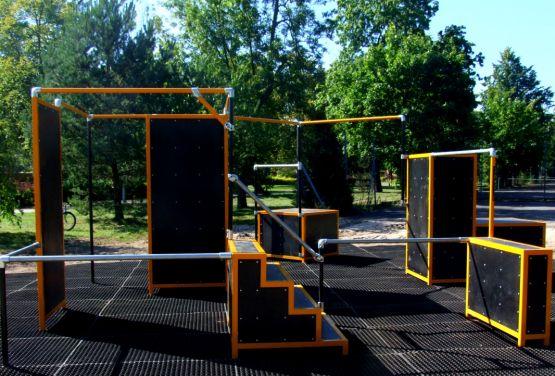 Parkour park w miejscowości Biskupiec