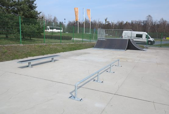 Obstacles in skatepark in Tarnowskie Góry (Silesia Province)