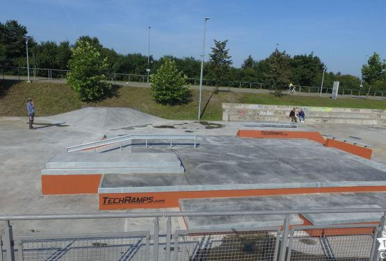 Concrete Skatepark from in Gdańsk Techramps - Ergo Arena