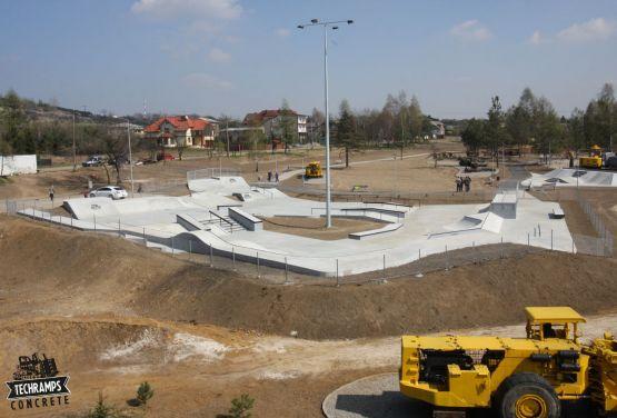 Skatepark in Polen - Blick von der Drohne