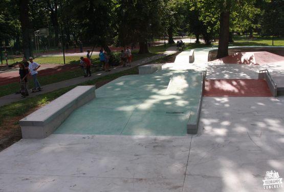 Krakau - skatepark im Jordan Park
