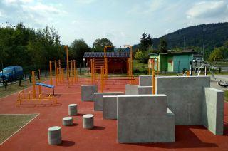 Parkour park in Maków Podhalański