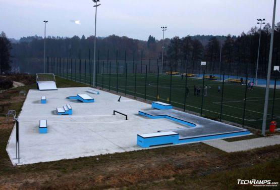 Skatepark de hormigón en Torzym