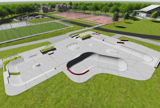 Concrete skatepark in Swarzęd - conpception