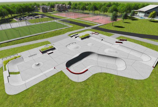 Concrete skatepark in Swarzęd - conpception