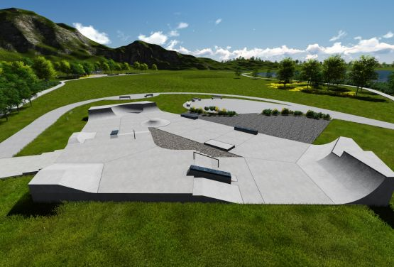 Project of skatepark - Techramps
