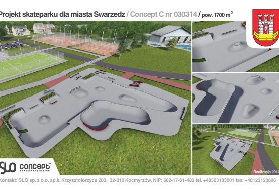 Design documentation of skatepark (Swarzędz)