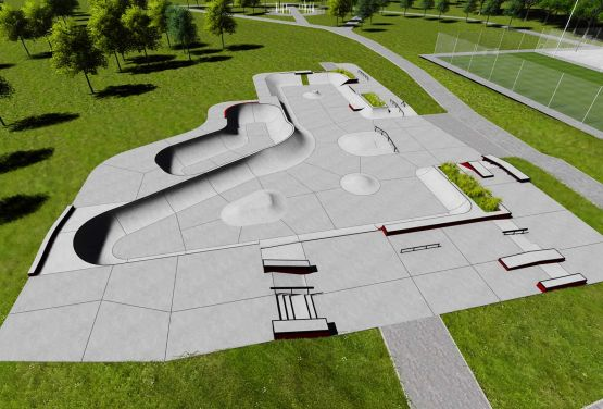 Concrete skatepark in Swarzęd - project