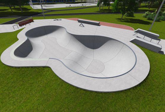 Designdokumentation des Skateparks in Ochota in Warschau