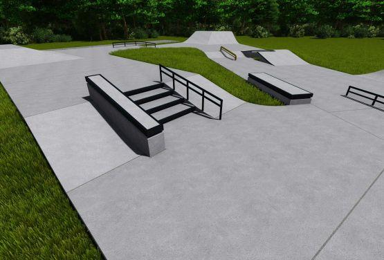 Plan der Hindernisse in Kalwaria Zebrzydowska Skatepark