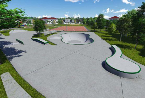 Skatepark in Kalisz - Projekt