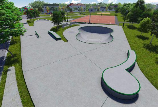 Skatepark in Kalisz - Konzept