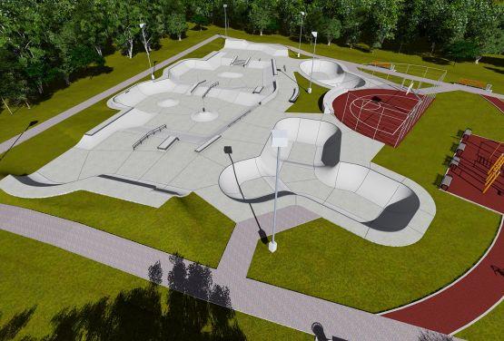 Konzeption des Skateparks in Norwegen