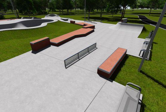 Dokumentacja projektowa grind boxa w skateparku w Warszawie