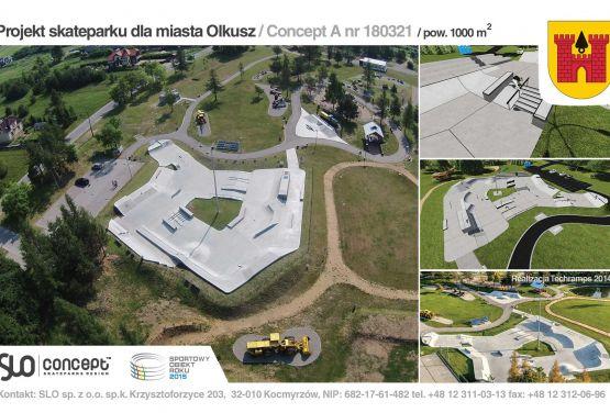 Projekt skateparku betonowego dla miasta Olkusz