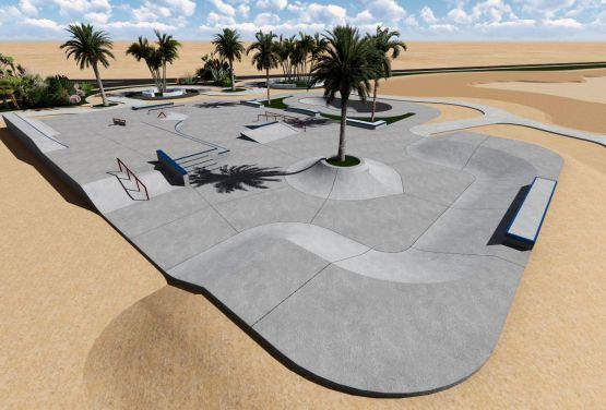 Skatepark w El Gounie w Egipcie - Projekt