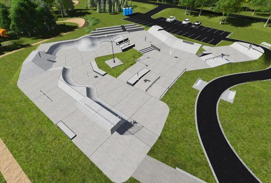 Projekt skateparku betonowego w Olkuszu