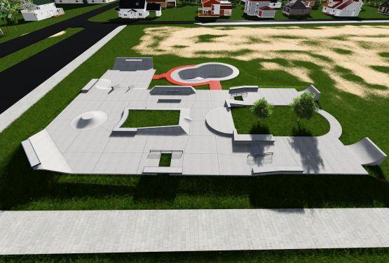 Projekt skateparku w norweskim mieście Stjordal