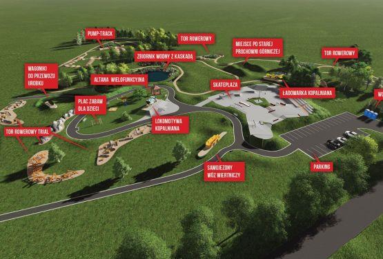 Projekt zagospodarowania parku w Olkuszu