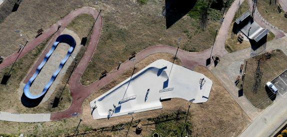 Pumptrack and skatepark in Maniowy