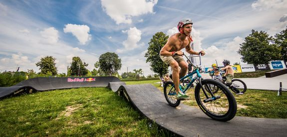 Pumptrack bike rider