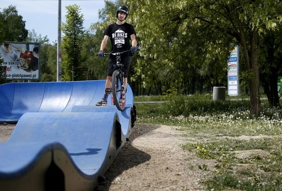 Pumptrack on the Lubostron street in Cracow