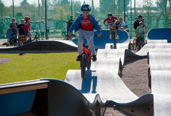 Pumptrack for bikes, skateboards, scooters