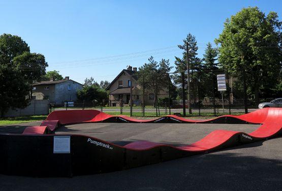 Czerwony Pumptrack w Miasteczku Śląskim