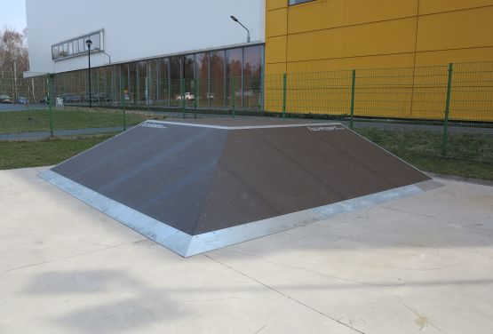 Pyramid in skatepark in Tarnowskie Góry (Silesia Province)