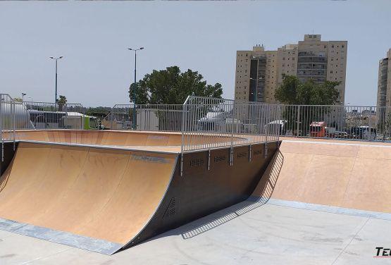 Modular obstacles - skatepark in Ramla