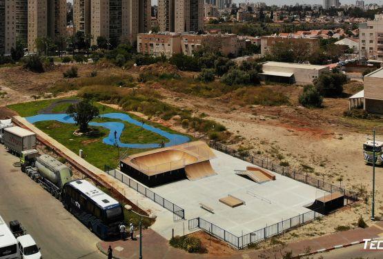 Skatepark created by Techramps