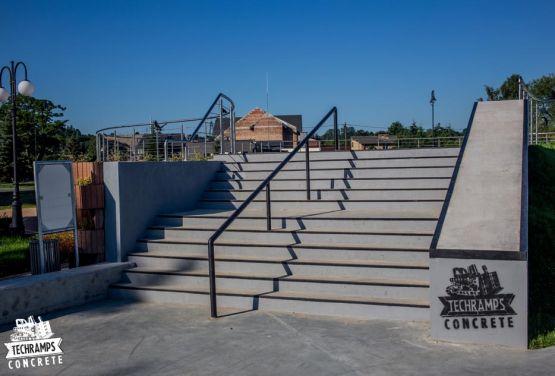 Wąchock skatepark zrealizowany przez Techramps