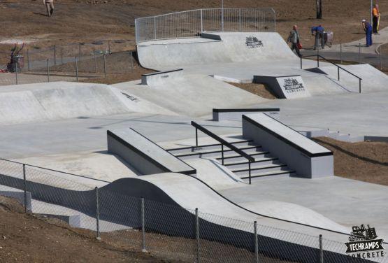 Concrete skatepark in Olkusz