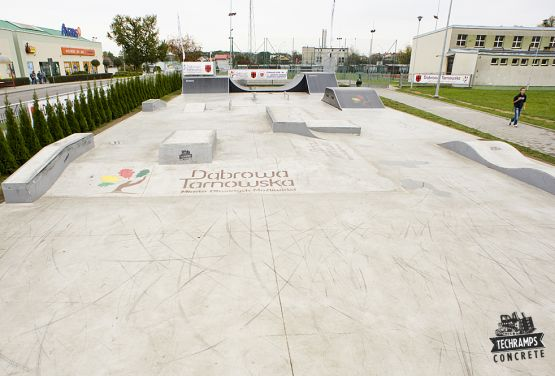 Blick auf die Skateplaze - Dąbrowa Tarnowska