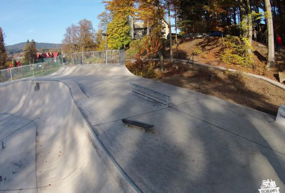 Szklarska Poręba in Poland -concrete skatepark