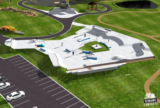 Skatepark in Polen - Drohne