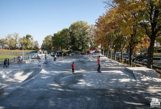 Skatepark in Polish city à Nakło nad Notecią