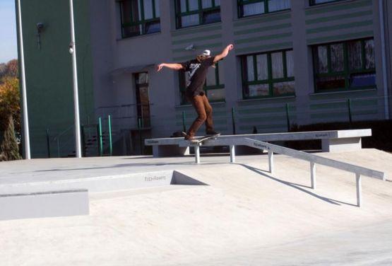 Będzin skatepark Beton