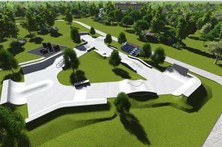 Skatepark betonowy w Iżewsku w Rosji- wizualizacja