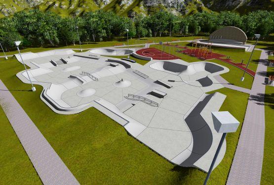 Projekt des Skateparks in Norwegen in Brumunddal