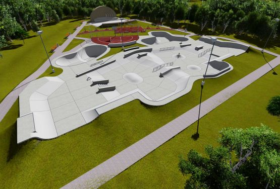 Conception of skatepark in Norway in Brumunddal