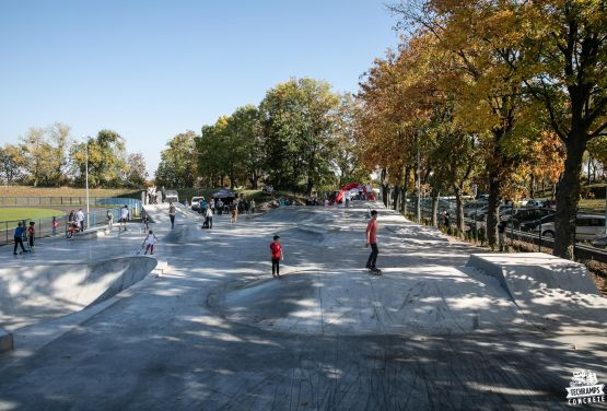 Skatepark in Polish city in Nakło nad Notecią