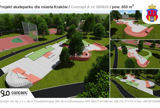 Skatepark beton - Cracovie