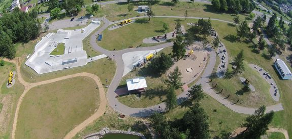 Skatepark de béton à Olkusz - projet et réalisation